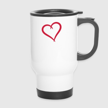 Curving heart - Travel Mug