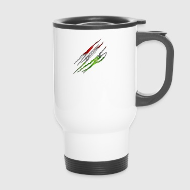 Hongrie 001 tailladé formes rondes - Mug thermos