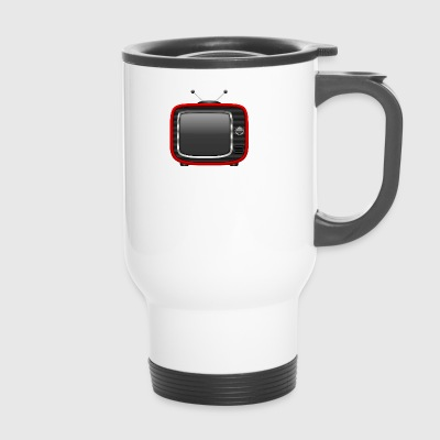Retro Tv Red 001 AllroundDesigns - Travel Mug