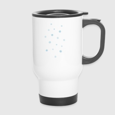 snowflakes - Travel Mug