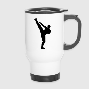Martial arts silhouette - Travel Mug