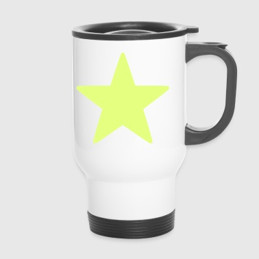 Star / Star / Yellow / Bright / Sun. - Travel Mug
