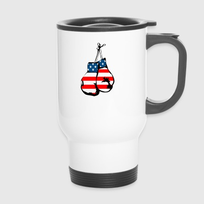 USA boxing gloves - Travel Mug