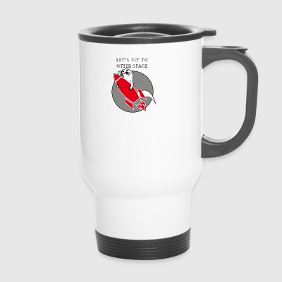 LET'S FLY TO OTTER SPACE -ROCK RAKETE - Travel Mug