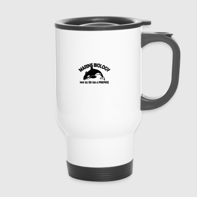 marine biology porpoise - Travel Mug