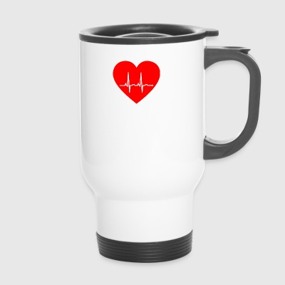 Heart with pulse - Travel Mug