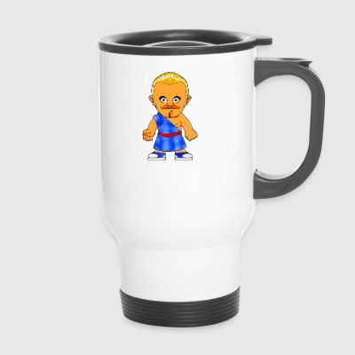 Spartan comic style Warrior fighter Romans - Travel Mug