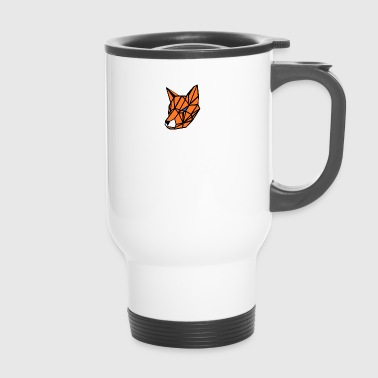geometric fox - Travel Mug