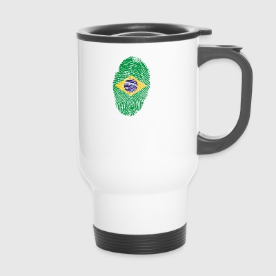 Fingerprint i love roots brazil brazil - Travel Mug