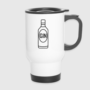 Gin bottle black - Travel Mug