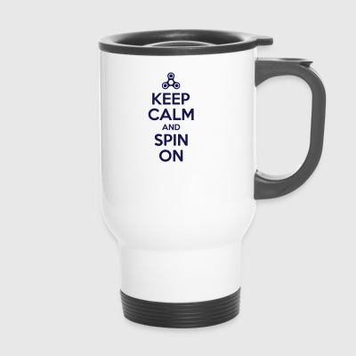Keep Calm and Spin On - Travel Mug