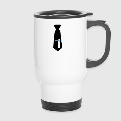 Dab cravate noire / Kravatte / Cravate / cravate - Mug thermos