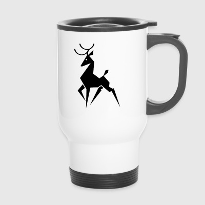 Deer - deer antler - Travel Mug