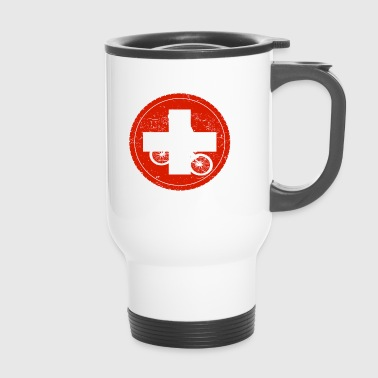 Bicycle bmx love biking Switzerland - Travel Mug