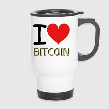 I LOVE BITCOIN - Thermobecher