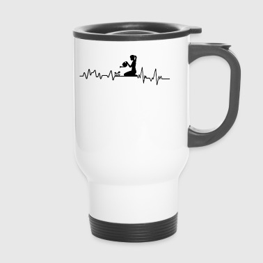 Heartbeat Gardening T-Shirt Gift Plants - Travel Mug