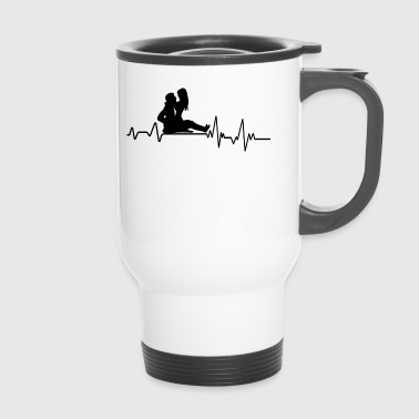 Hearbeat Sex T-Shirt Gift Relationship Partner - Travel Mug