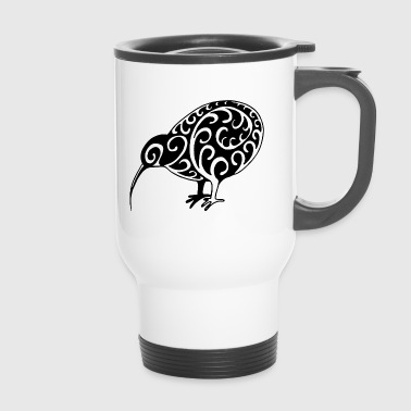 New Zealand: Kiwi in black - Travel Mug