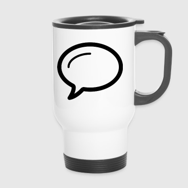 Linecons speech bubble - Travel Mug