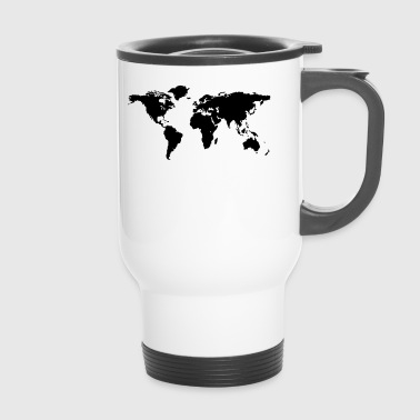 map of the world - Travel Mug