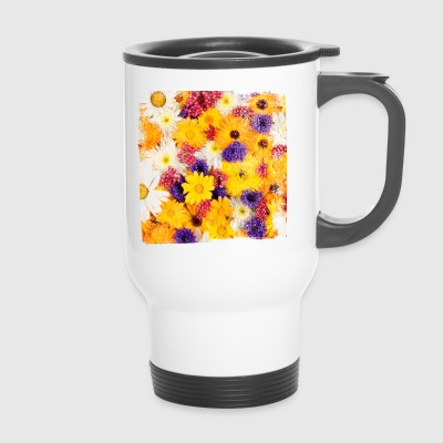 Flower flowers spring spring nature garden bloom - Travel Mug