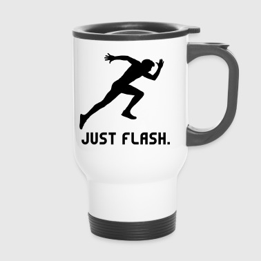Just Flash athlete athlete sprinting run - Travel Mug