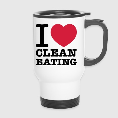 i love clean eating - Thermobecher