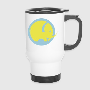 Round Logo Elephant - Travel Mug
