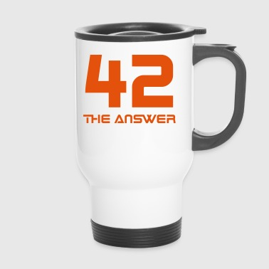 42, the Answer Antwort Galaxis Science Fiction UFO - Thermobecher
