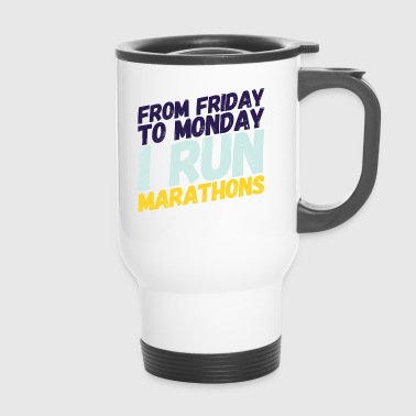 marathon runner - Travel Mug