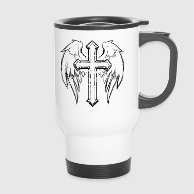 Religion peace war cross, - Travel Mug