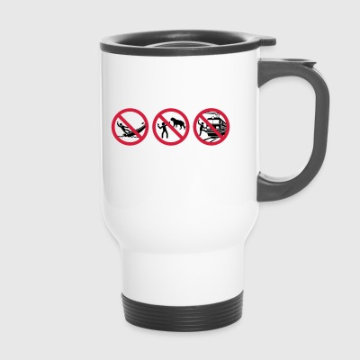 avertissement selfies - Mug thermos