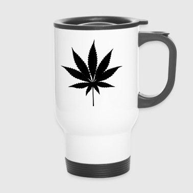 Weed Cannabis Marihuana Silhouette - Kubek termiczny
