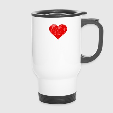 I Love my boy valentinstag Geschenkidee Retro - Thermobecher