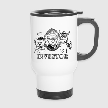 Bear and bull with Warren Buffet - real investors - Travel Mug