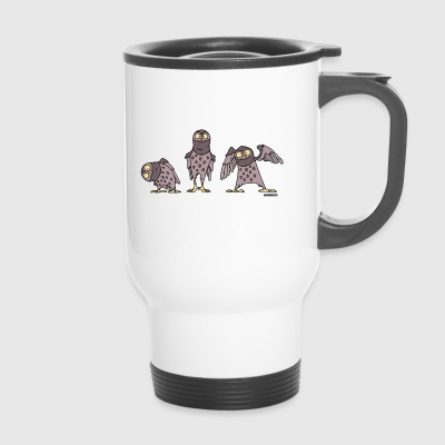 Owls - purple - Travel Mug