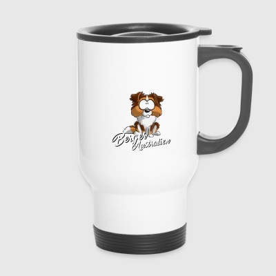 Je Suis Berger Australien rougeTri queue blancFR - Mug thermos