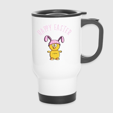 Happy Easter chick as easter bunny - easter - Travel Mug