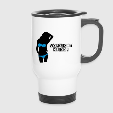 woman in bikini - Travel Mug