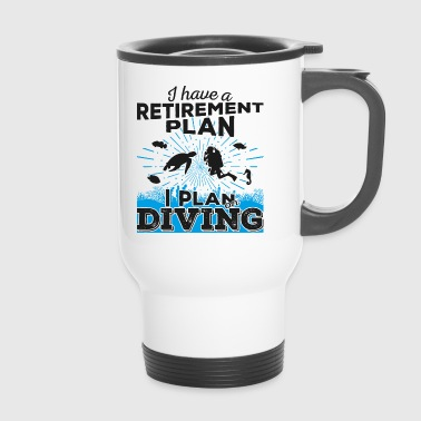 Retirement plan diving (dark) - Travel Mug