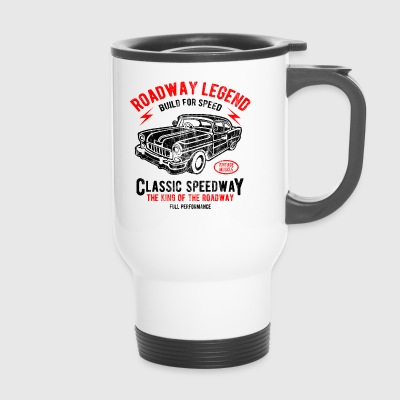 CLASSIC SPEEDWAY - Retro Car und Auto Shirt Motiv - Thermobecher