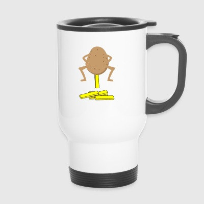 potatoe potato fries funny frenchfries fun ha - Travel Mug