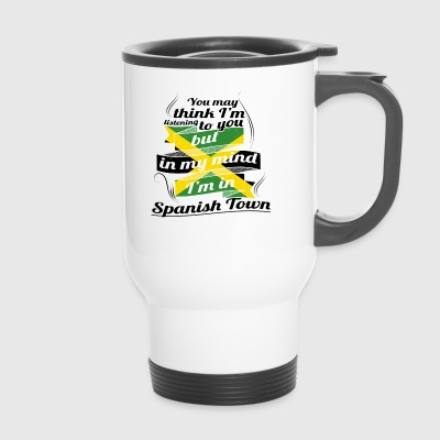 HOLIDAY JAMESICA ROOTS TRAVEL IN Jamaica Spanish - Travel Mug