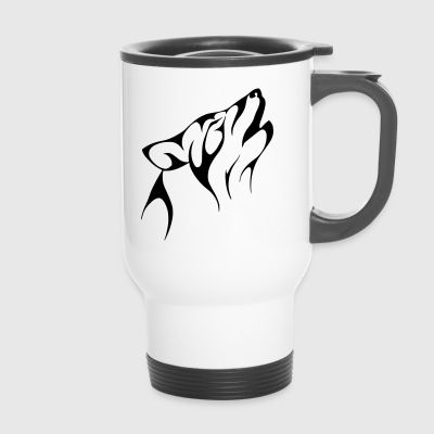 The howling wolf - Travel Mug