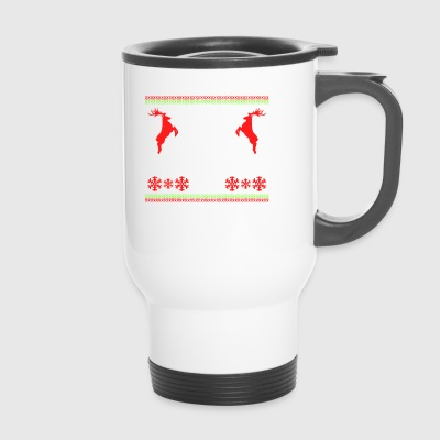 Keep Calm And Christmas On Reindeer Snowflakes - Travel Mug