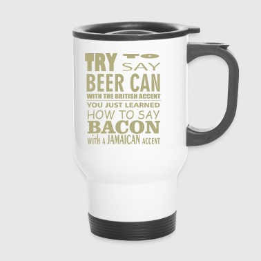 Beer can comic - Travel Mug