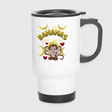 Bananas Monkey Valentine's Day Gift Love Couples - Travel Mug