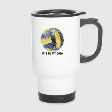 Volleyball in my DNA gift fingerprint - Travel Mug