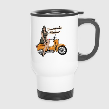 Simson Schwalbe KR51 vintage retro traffic orange - Travel Mug