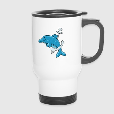 Save the whales sushi whale-catching dolphin - Travel Mug